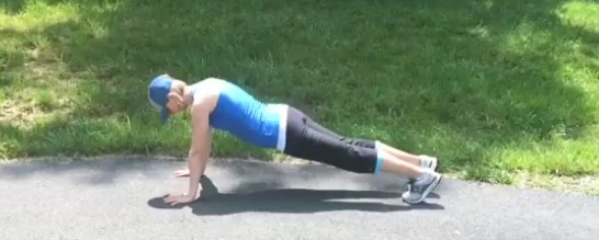 Walking Fitness Plank Post